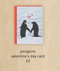 penguins valentine's day card