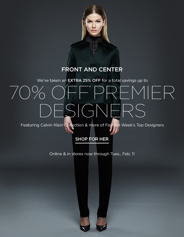 Up to 70% off Premier Designers