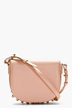 ALEXANDER WANG Rose Leather Studded Lia Small Satchel for women