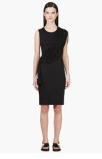 GIVENCHY Black Jersey Draped Dress for women
