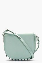 ALEXANDER WANG Mint Leather Studded Lia Small Satchel for women