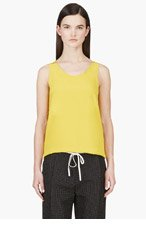 CHLOE Yellow Crepe De Chine Tank Top for women