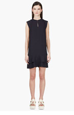 CHLOE NAVY Ruffled Shift DRESS for women