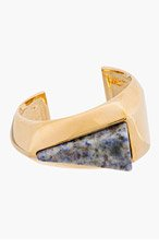CHLOE Gold-Tone Natural Stone & Brass Bettina Cuff for women