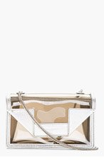 SAINT LAURENT Silver Trim Transparent Mini Betty Shoulder Bag for women