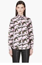 GIVENCHY Black & Pink Peony Print Blouse for women