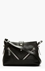 KENZO Black Calfskin California Shoulder Bag for women