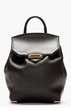 ALEXANDER WANG Black Embossed Prisma Backpack for women
