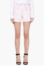 GIVENCHY Pink Leather Shorts for women