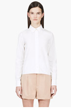 CHLOE White Classic Poplin Blouse for women
