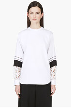 CHLOE White Oversize Layered Sleeve Blouse for women