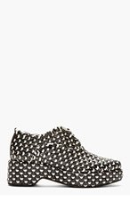 ACNE STUDIOS Black& white Interwoven Leather Jax Shoes for women