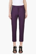 ACNE STUDIOS Plum Kid Mohair Cropped Trousers for women
