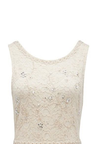 Lilou Embellished Lace Crochet Dress