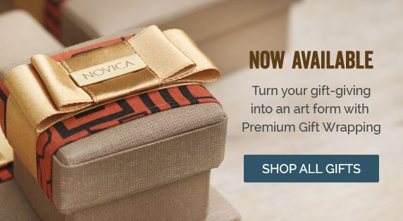Now Available - Turn your gift-giving into an art form with Premium Gift Wrapping - Shop All Gifts