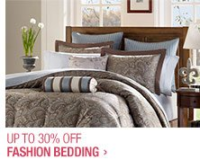 Up to 30% off Fashion Bedding
