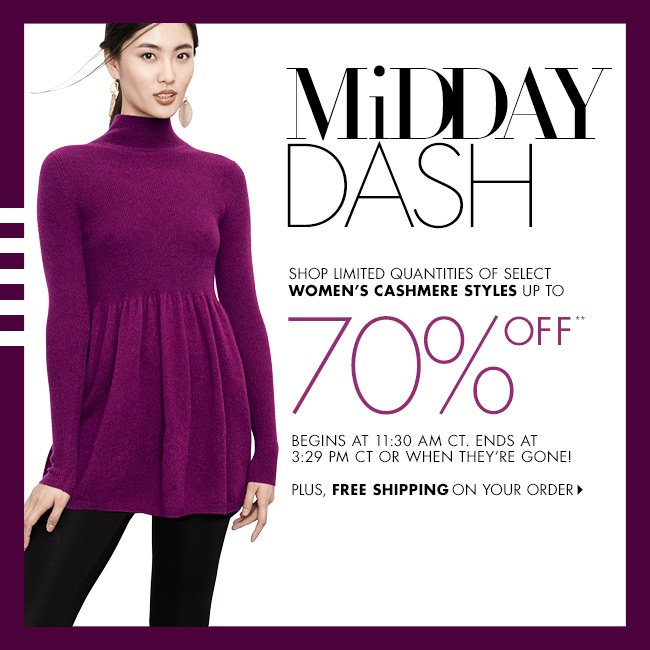 Midday Dash: Up to 70% off