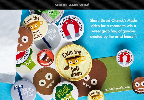 Win a prize pack from David