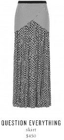QUESTION EVERYTHING skirt - $450