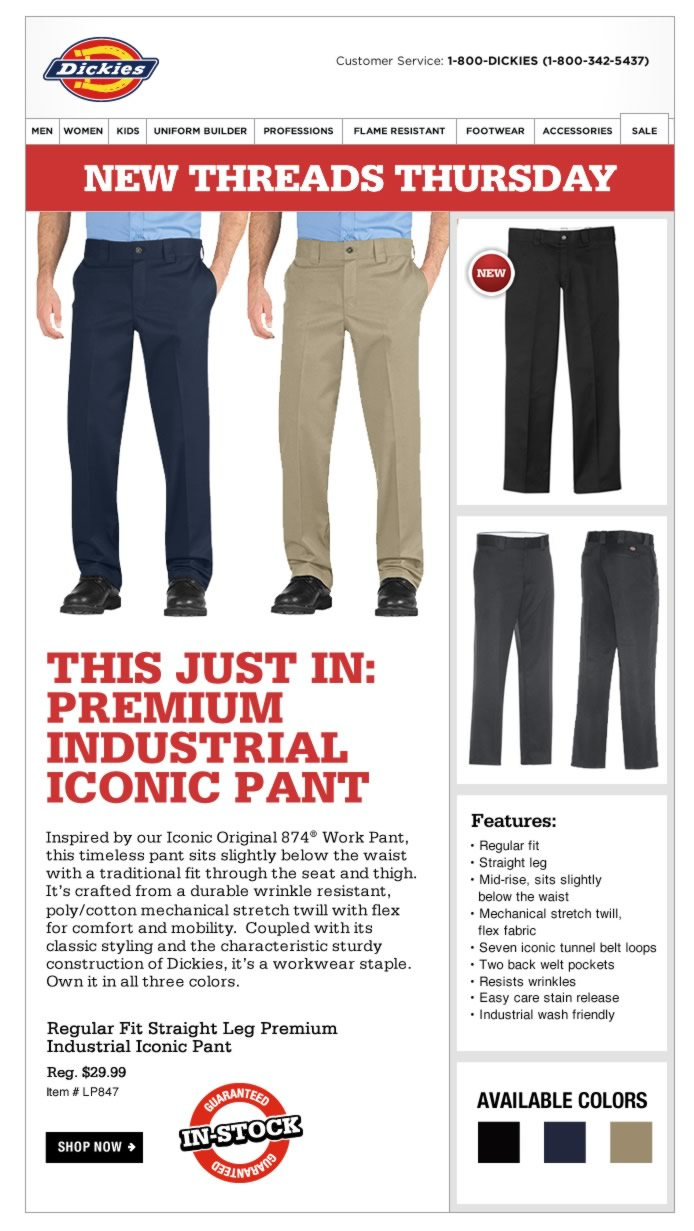 New Threads Thursday: Premium Industrial Iconic Pant