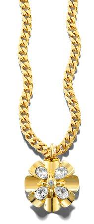 Flower Long Pendant Necklace