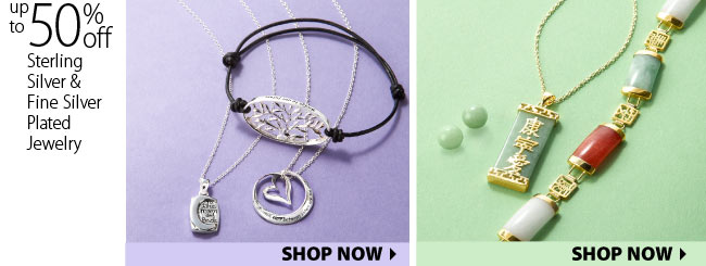 Up to 50% off Sterling Silve and Fine silve plated jewlery