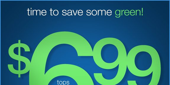 Time to save some green!