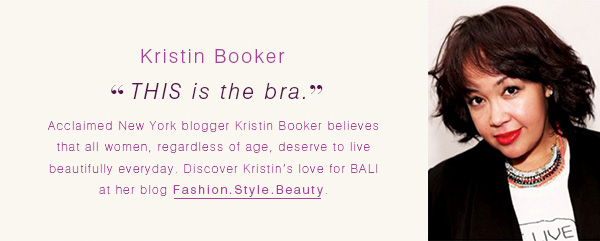 """Kristin Booker: """"THIS is the bra."""""""