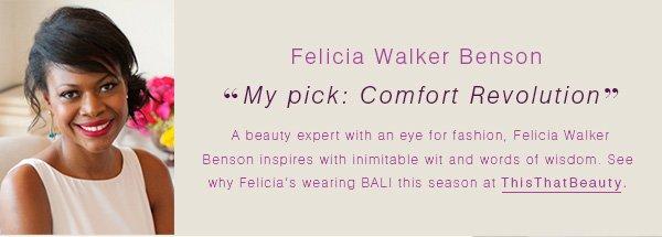 """Felicia Walker Benson: """"My pick: Comfort Revolution"""""""