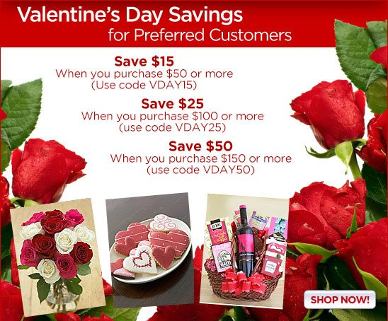 Save Up to $50 on Valentine's Day Gifts!