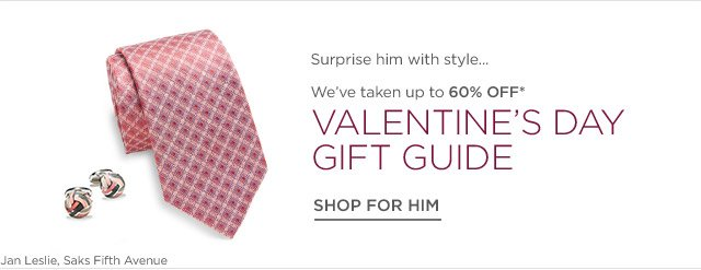Up to 60% off Men's Valentine's Day Gift Guide
