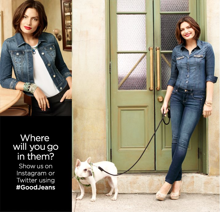 Where will you go in them?   Show us on Instagram or Twitter using #GoodJeans