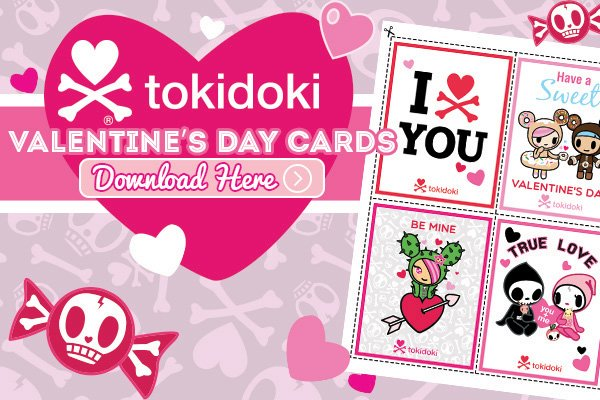 Share the love with these cute tokidoki Valentine's Day cards!