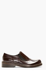 MARNI Brown Leather Loafers for men