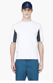 MARNI White & Grey Crewneck Sweater for men