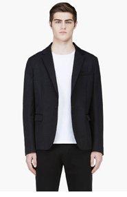 MARNI Black Sheen Relaxed Blazer for men