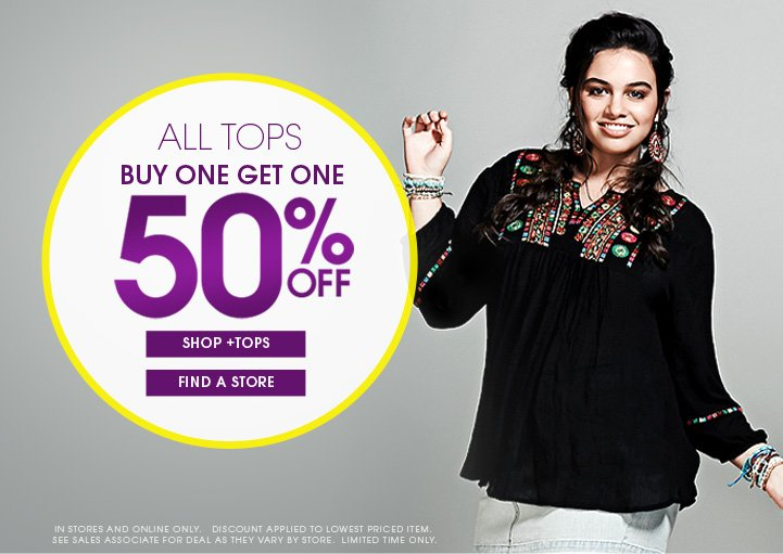 All Tops Buy One Get One Free