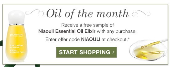There's still time...Receive a free sample of Niaouli Essential Oil Elixir with any purchase