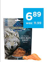 Blue Buffalo Wilderness Dog Jerky Treats only $6.89
