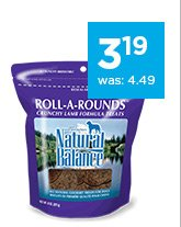 Natural Balance Roll-A-Rounds Dog Treats only $3.19