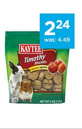 Kaytee Timothy Hay Baked Small Animal Treats only $2.24