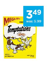 Temptations Cat Treats Chicken only $3.49
