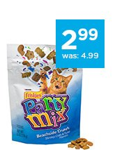 Friskies Party Mix Cat Treats only $2.99