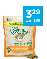 Feline Greenies Dental Treats only $3.29