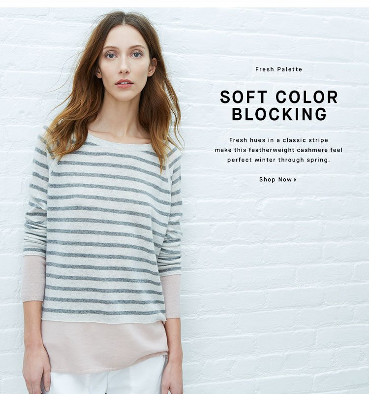 SOFT COLOR BLOCKING - Shop Sweaters