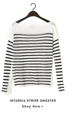 INTARSIA STRIPE SWEATER - Shop Now