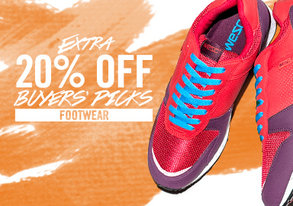 Shop Extra 20% Off Buyers' Picks Footwear
