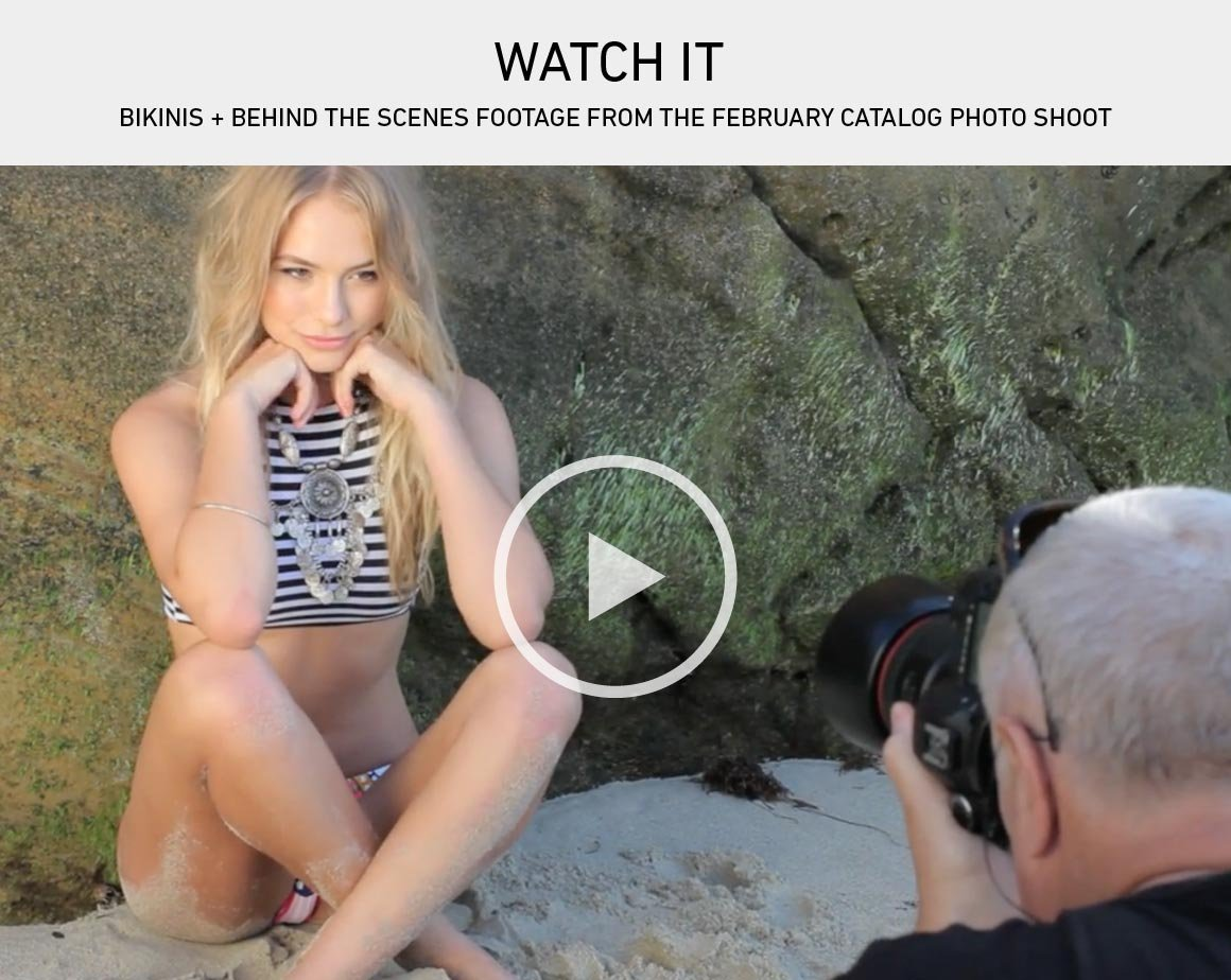 Watch It: Behind the Scenes Footage from the Feb Catalog Photo Shoot