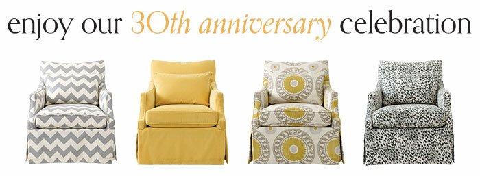 Enjoy our 30th Anniversary Celebration