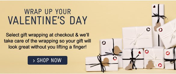 Valentine's Gift Wrapping - Shop Now